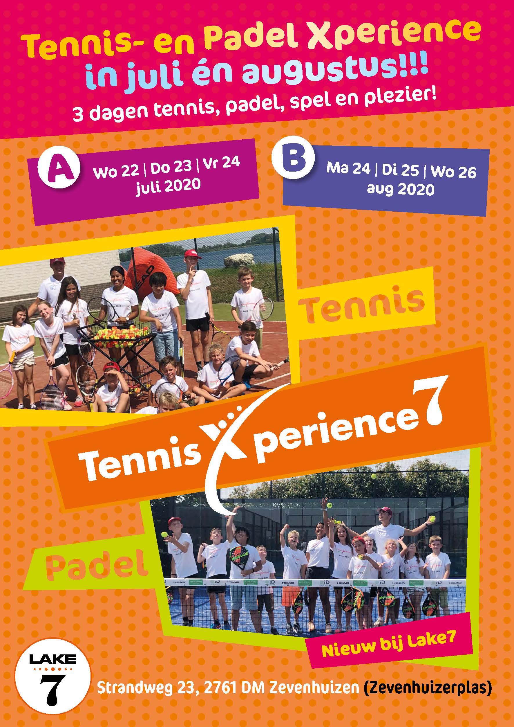 Flyer A5 Tennis-Padel kamp-2020-A